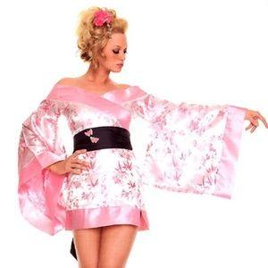 Leg Avenue Pink Geisha Sexy Kimono Costume